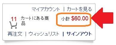 送料無料の60ドルは、ココを見るとわかりやすい!