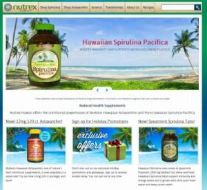 nutrex-hawaii.comのスクリーンショット